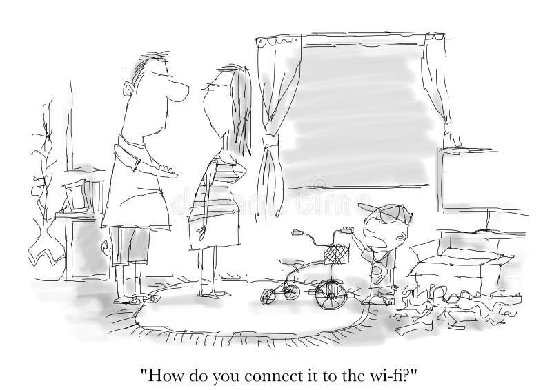 Como você o conecta ao Wi-Fi? imagens de stock