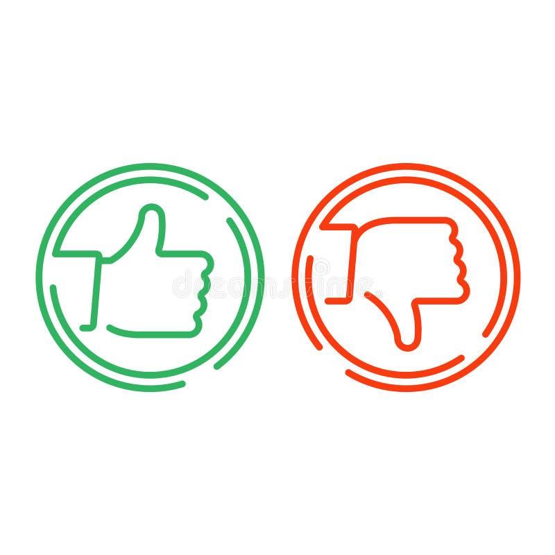 Como y de la aversión icono stock de ilustración