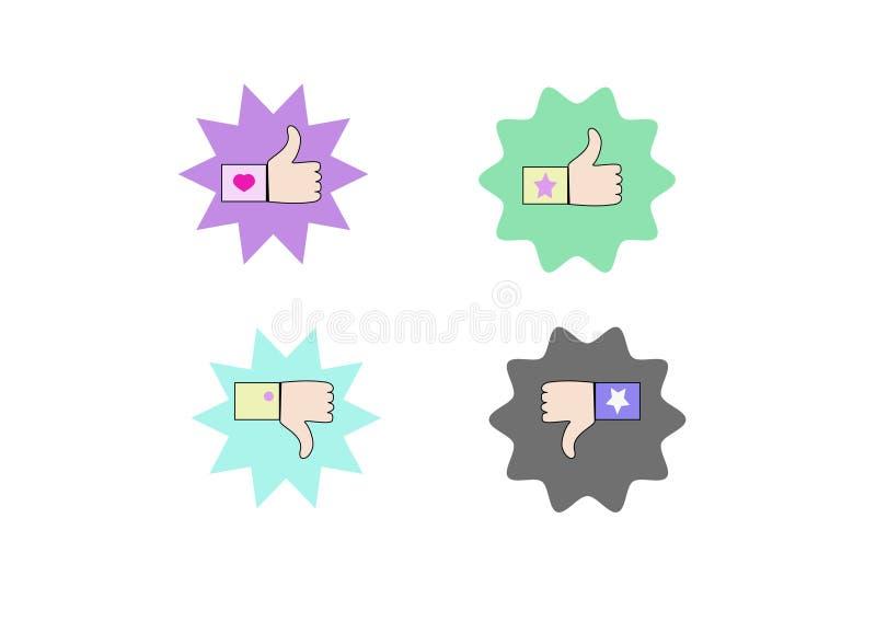 Como y de la aversión iconos stock de ilustración