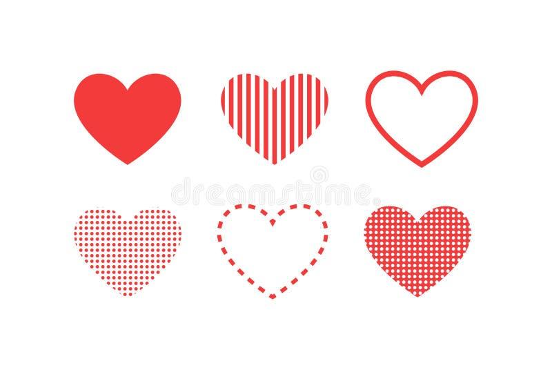 Como y del corazón icono Vídeo vivo de la corriente, charla, gustos Redes sociales como los botones rojos del web del corazón ais ilustración del vector