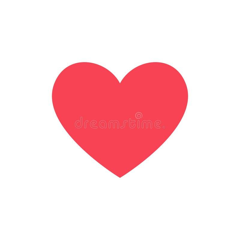 Como y del corazón icono Vídeo vivo de la corriente, charla, gustos Redes sociales como los botones rojos del web del corazón ais libre illustration