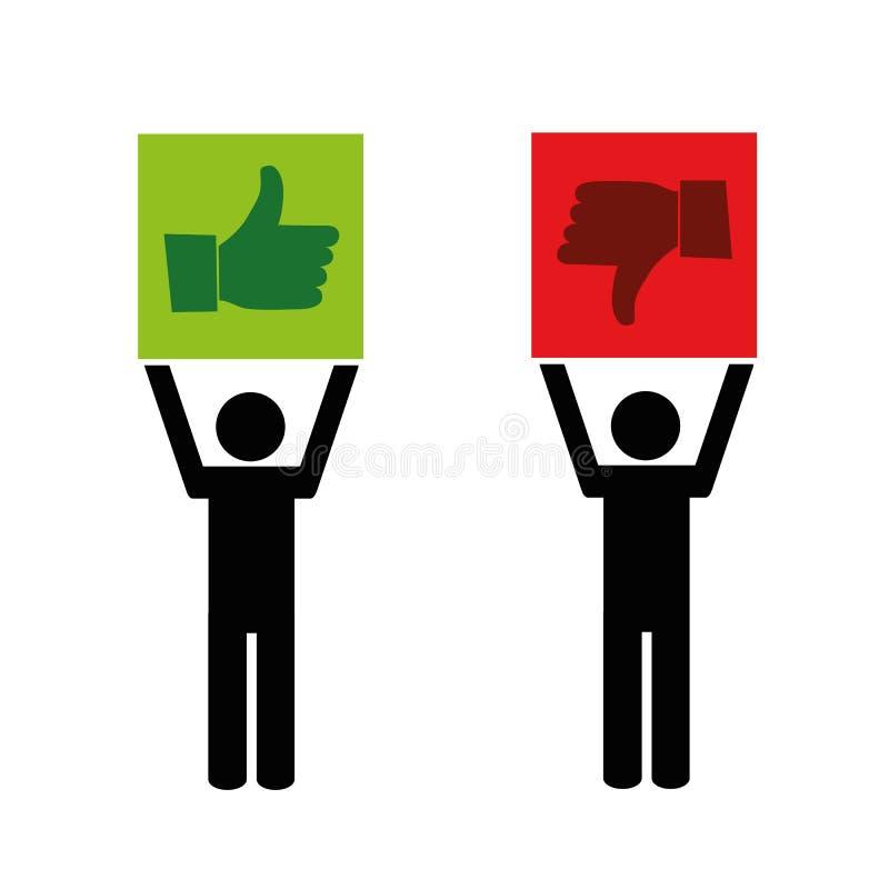 Como y la aversión da el pictograma stock de ilustración