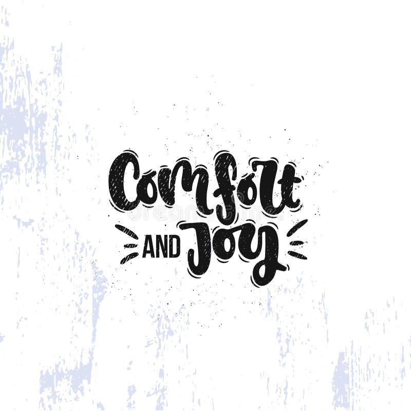 Comodidad y alegría libre illustration