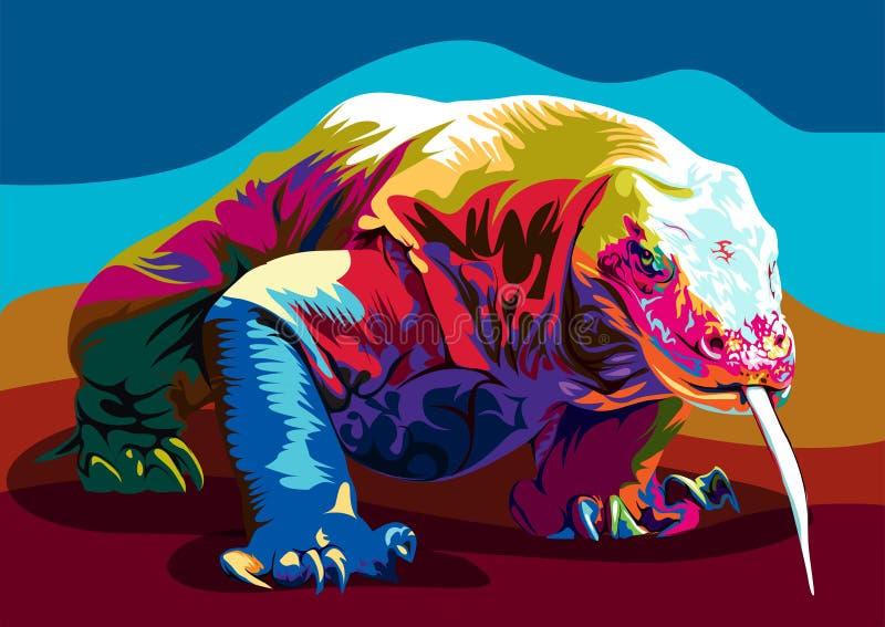 Comodo drakevektor stock illustrationer