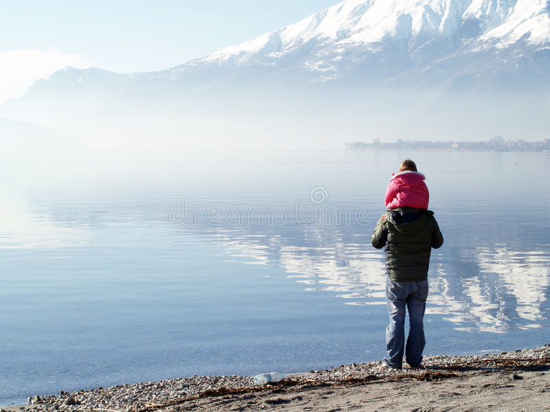 comoitaly lake royaltyfria bilder