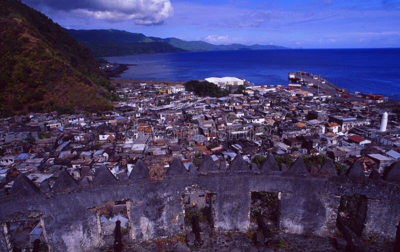 Comores:Citadelle在昂儒昂岛海岛上的Moutsamoudou 免版税库存照片