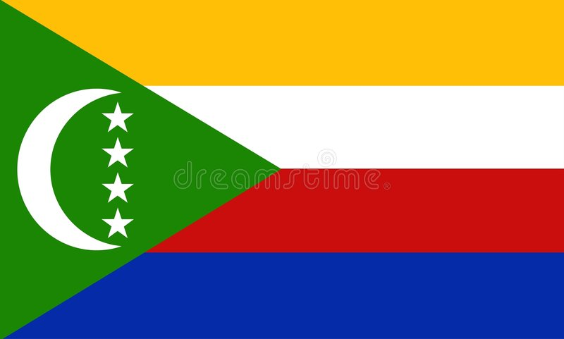 Comoros royalty free illustration