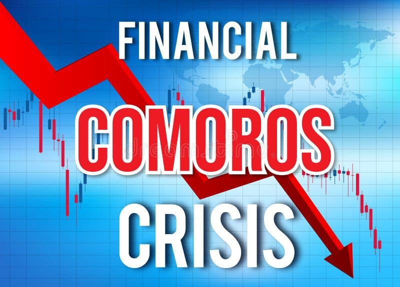 Comoros Financial Crisis Economic Collapse Market Crash Global Meltdown. Illustration stock illustration