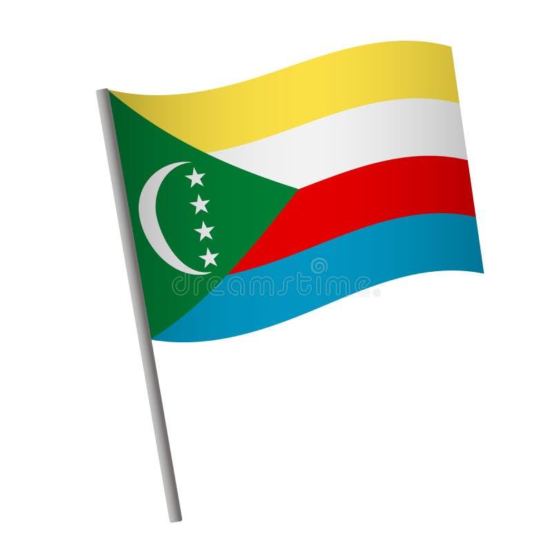 Comoros flag icon stock illustration