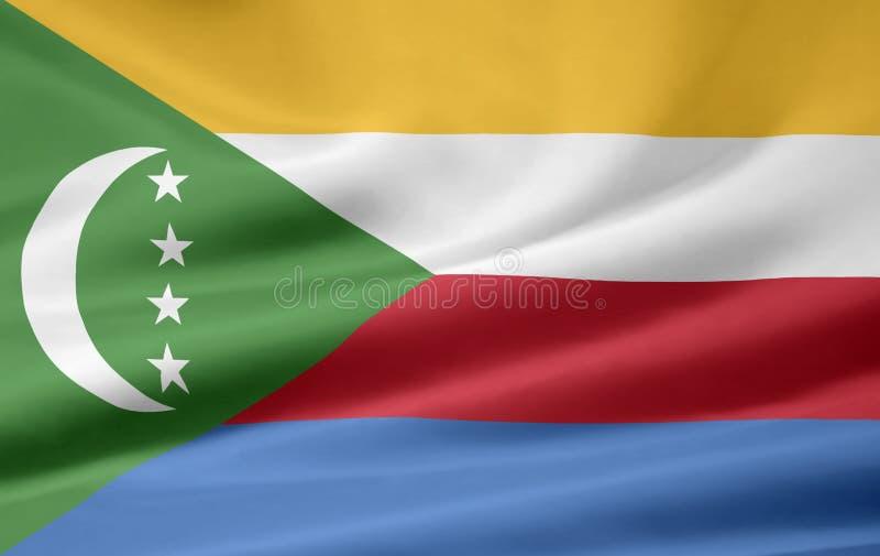 comoros flagga royaltyfri illustrationer