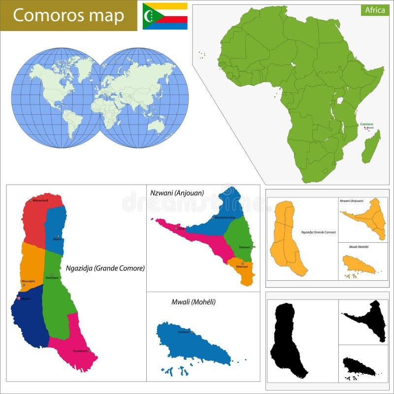 Comoros map stock vector Illustration of geography comoran 49293856