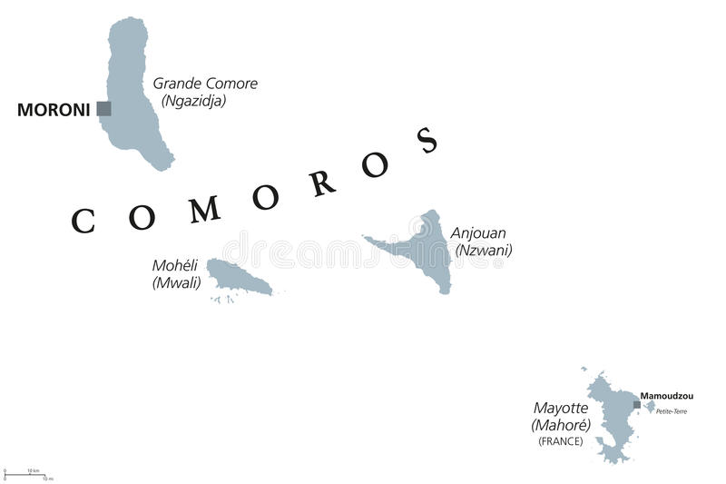 download comoros and mayotte political map stock vector illustration of comore anjouan 96403422