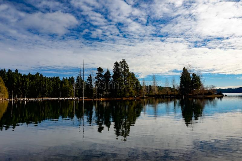 Comox湖, Comox Valley~Vancouver海岛, BC,加拿大 库存照片