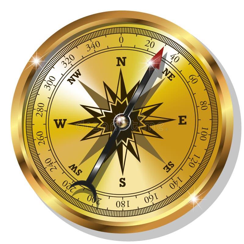 Download Compás de oro ilustración del vector. Ilustración de compás - 44856279