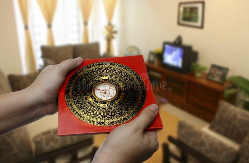 Compás del shui de Feng foto de archivo libre de regalías