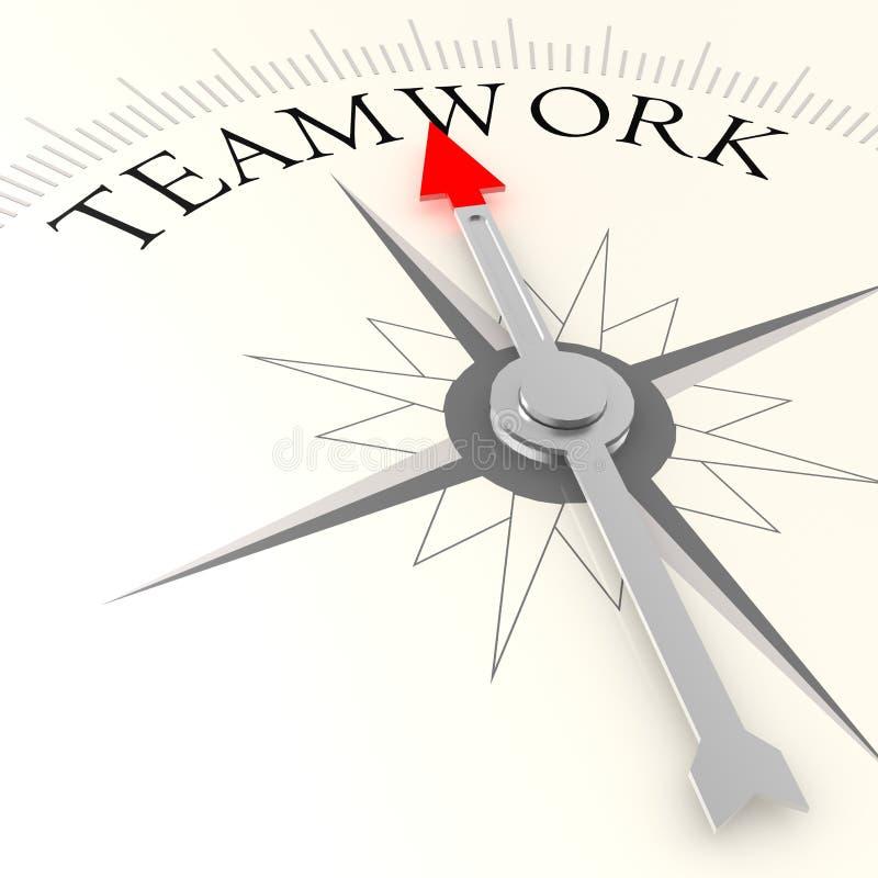 Compás del trabajo en equipo libre illustration