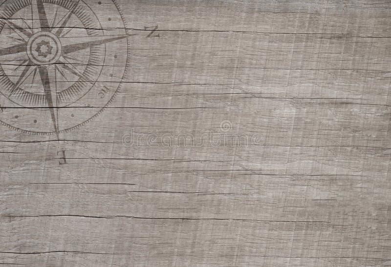 Compás en el fondo de madera para el concepto del viaje. imagenes de archivo