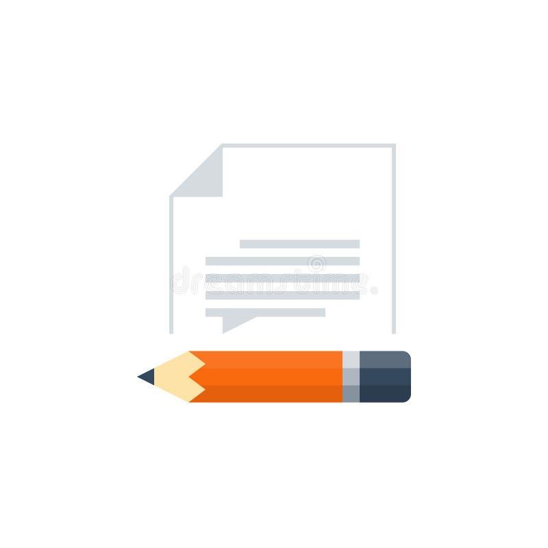 Compétence d'écriture et concept d'éducation illustration de vecteur
