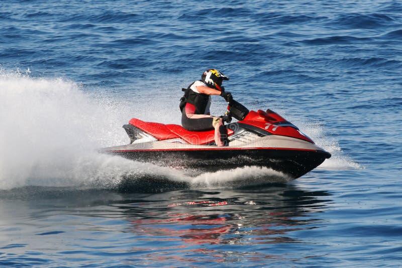 Compétition sportive de moteur de l'eau image libre de droits