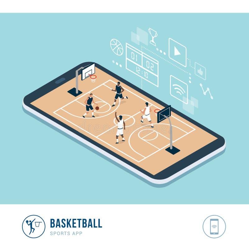 Compétition sportive professionnelle : basket-ball illustration stock