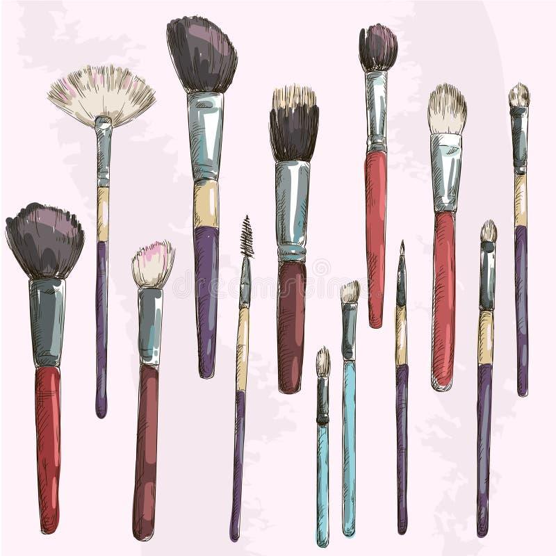 Compõe a coleção das escovas. Forme a ilustração.  ilustração do vetor