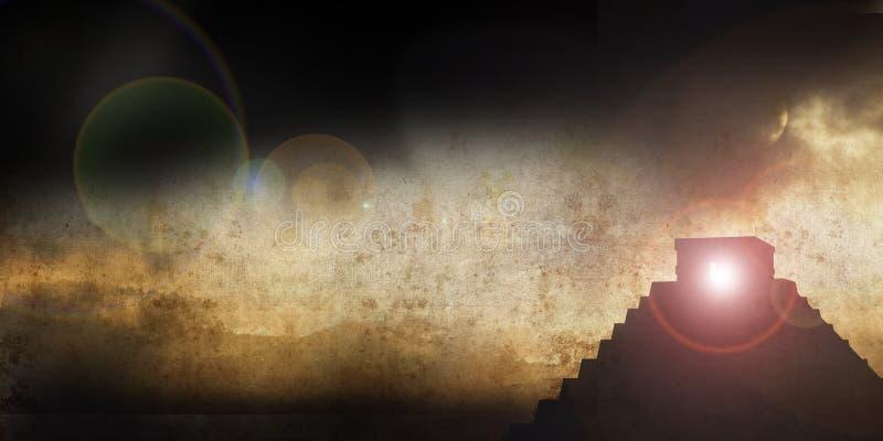 Comp anchos del maya ilustración del vector