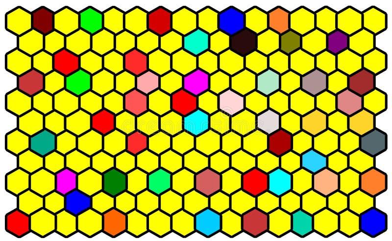 Comp bee yellow. Bee comp yellow hexagon stock illustration