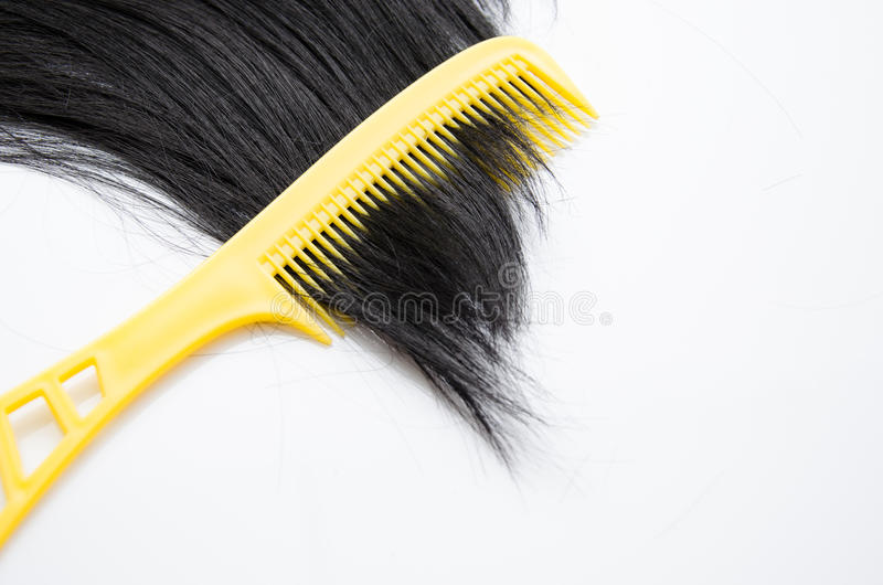 Comp with hair protection on white. Background royalty free stock photos