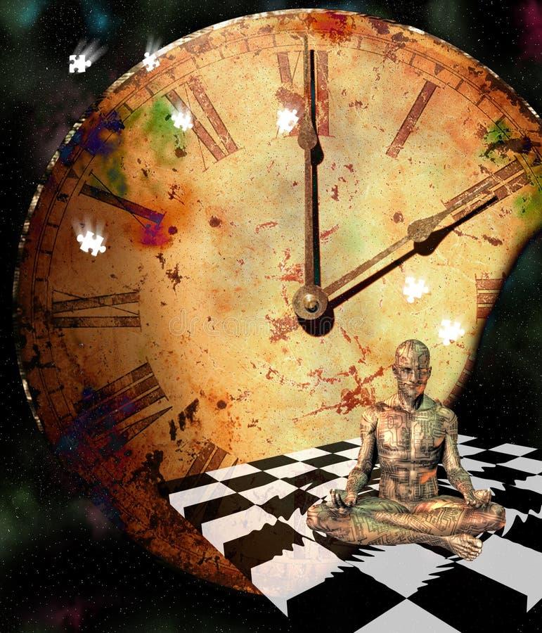 comp medytacja ilustracji