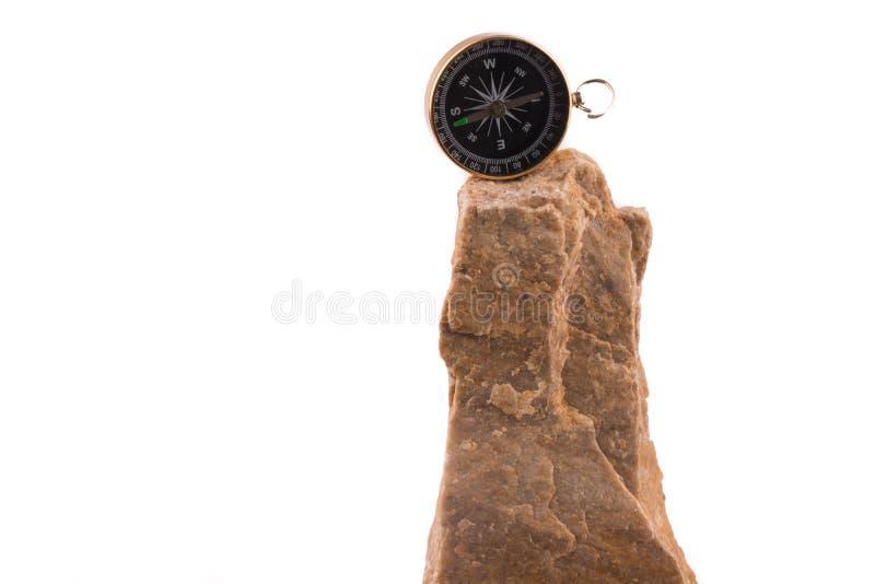 Comp?s en roca fotografía de archivo