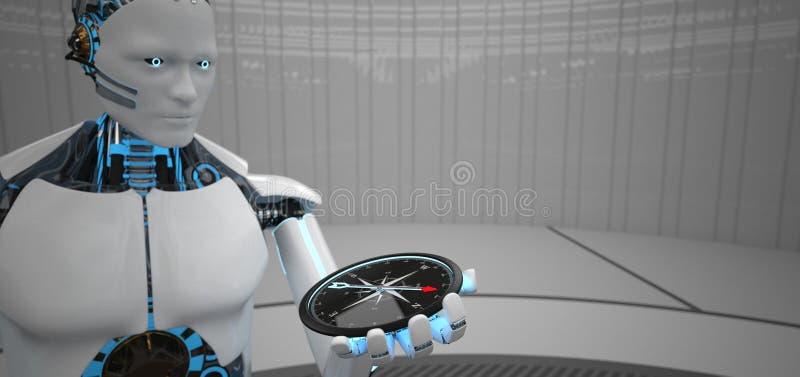 Comp?s Humanoid del robot libre illustration