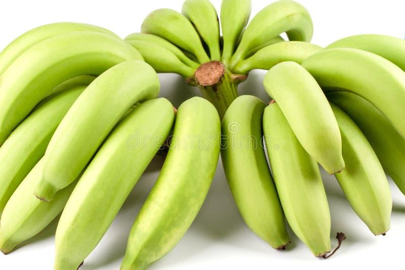 Comp(s) verdes da banana fotografia de stock