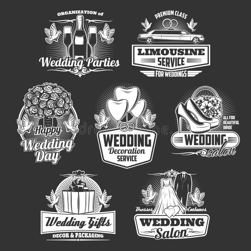 Compañía de la boda, servicio de la organización del matrimonio ilustración del vector