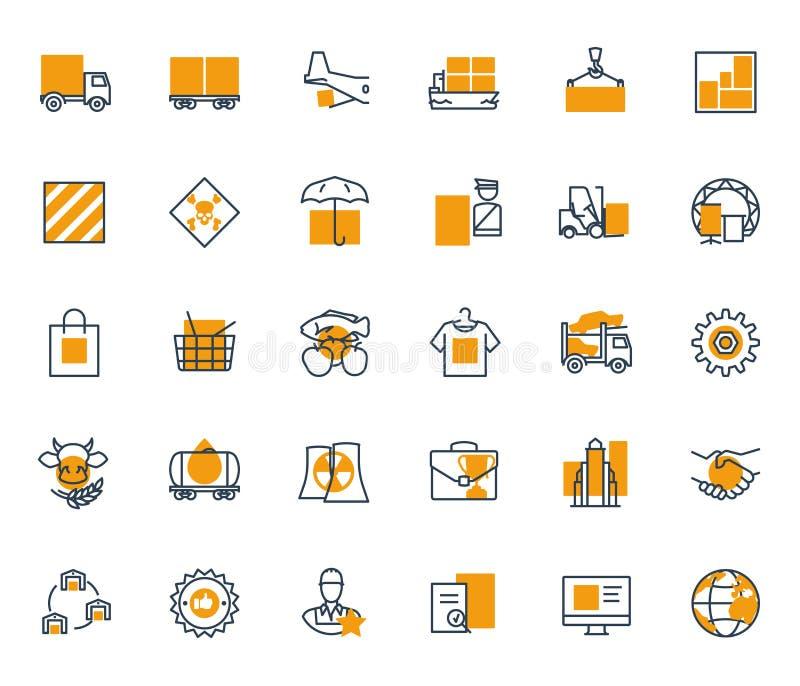 Compañía de la logística stock de ilustración