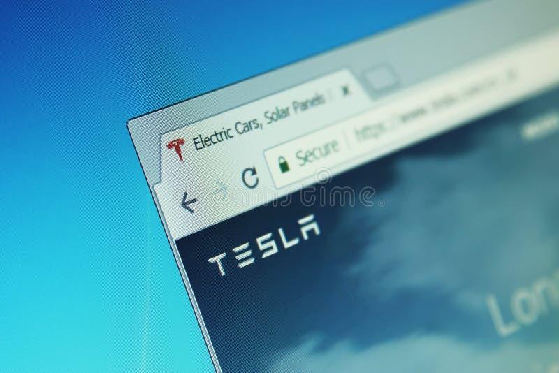 Compañía de Tesla fotos de archivo