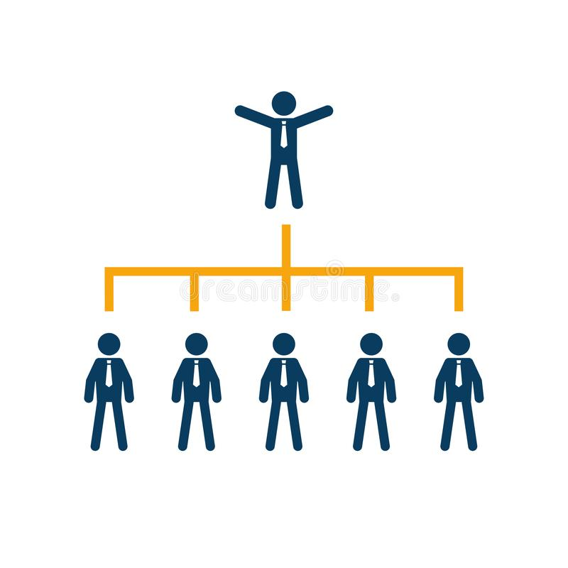 Compañía del árbol de la carta de organización de la empresa corporativa stock de ilustración