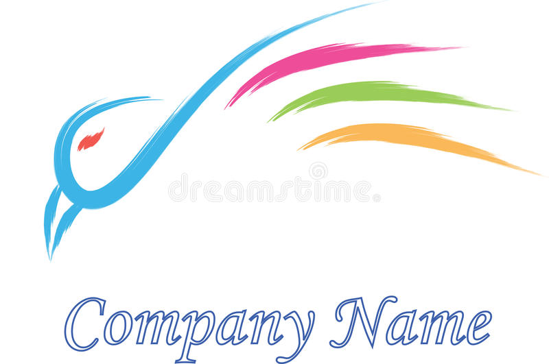 Compañía del logotipo del pájaro stock de ilustración