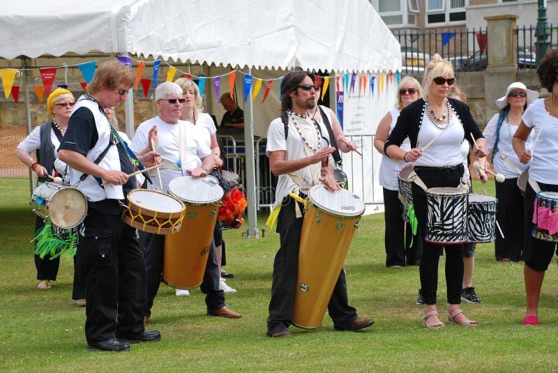 Compañía del tambor de la samba de la nación de Dende fotos de archivo libres de regalías