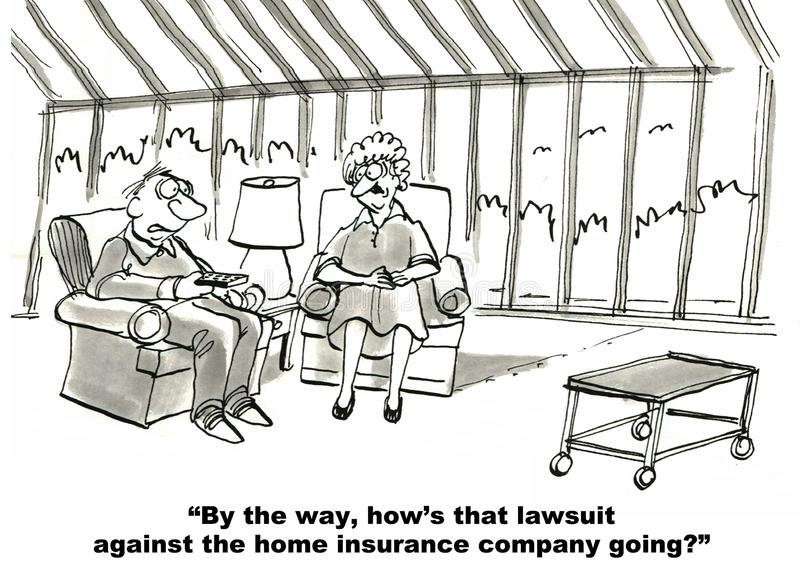 Compañía y pleito de seguros libre illustration