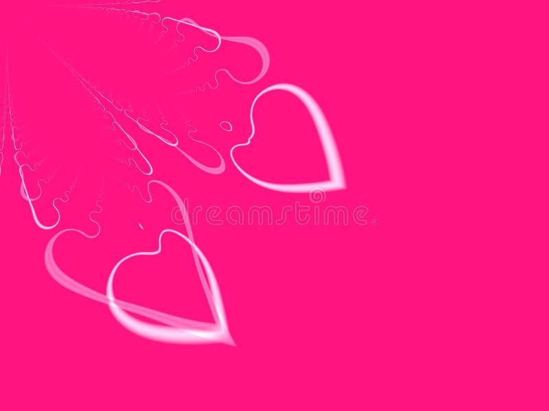 Compañeros de alma del Tarjeta del día de San Valentín-Día del fractal (con Copyspace) ilustración del vector