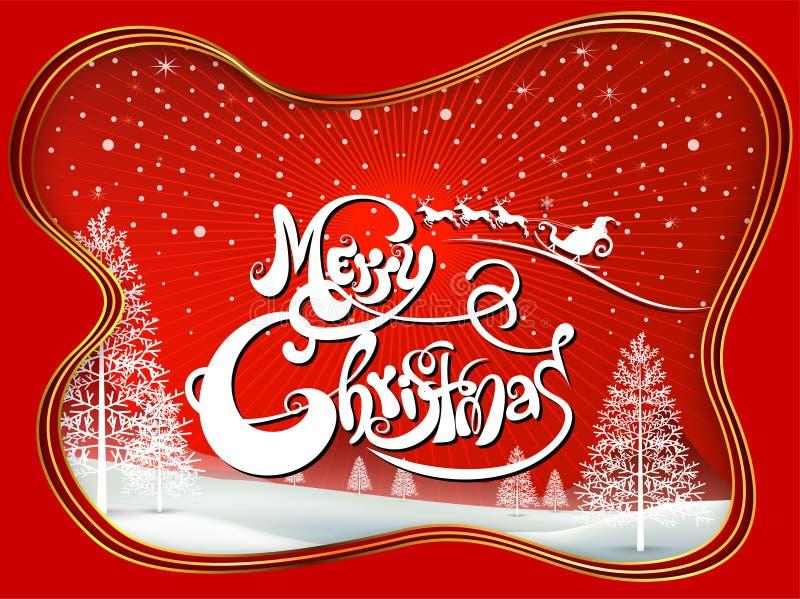 Compañeros de la Feliz Navidad feliz y de la Feliz Año Nuevo stock de ilustración