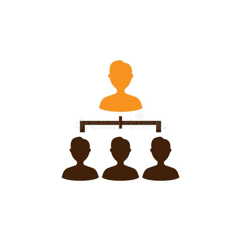 Compañeros de trabajo, icono de la jerarquía Elemento del icono de la optimización de la web para los apps móviles del concepto y libre illustration