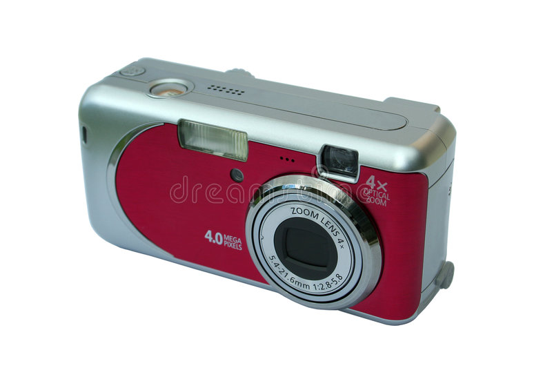 Compact camera. On white background with clipping paths royalty free stock image