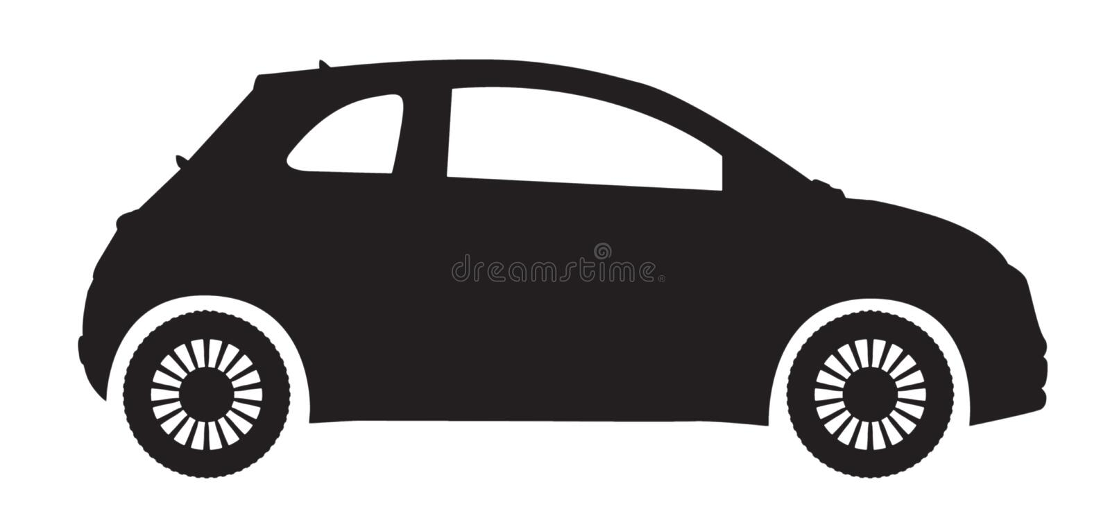 Compact Car Silhouette royalty free illustration