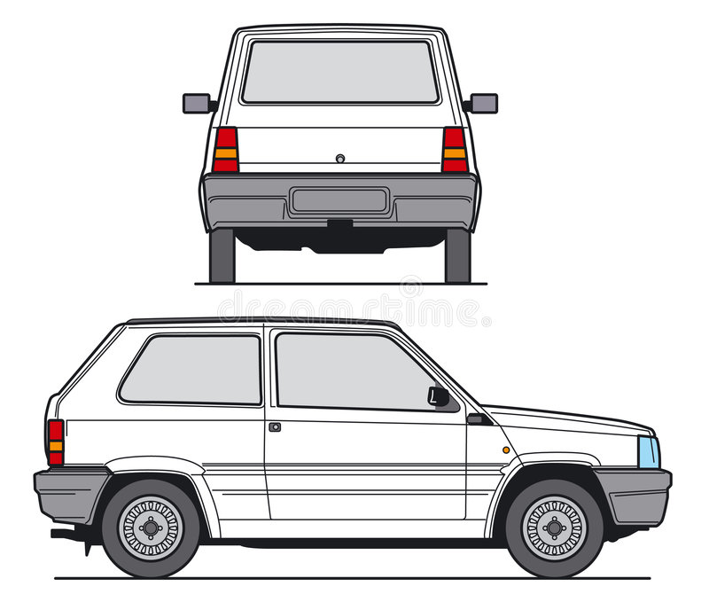 Compact Car Vector stock images