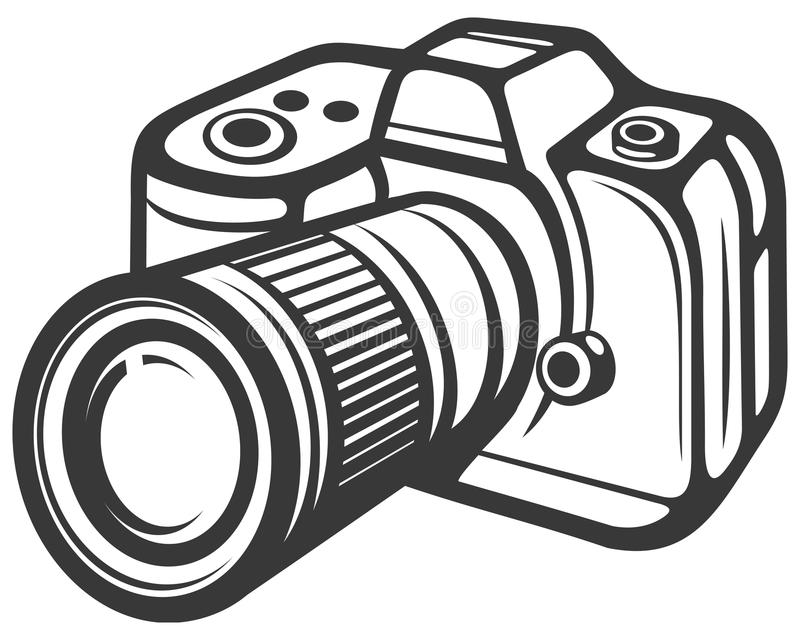 Compact digital camera. Digital photo camer, camera for taking pictures stock illustration