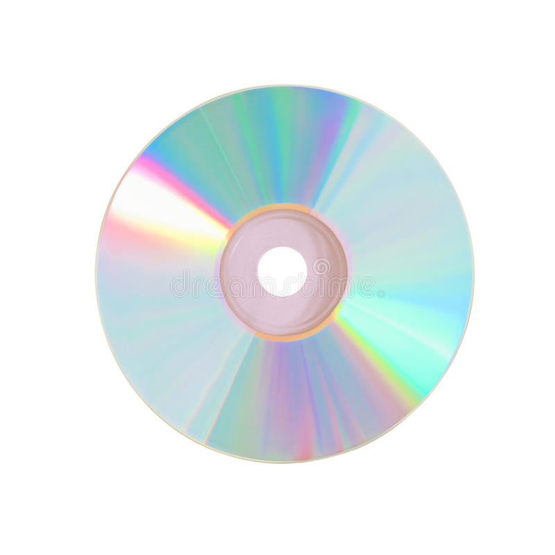 Compact disc. Isolated on the white background stock photo