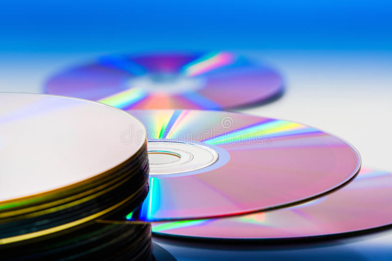 Compact disc. Still life portrait of a stack of compact disc stock images