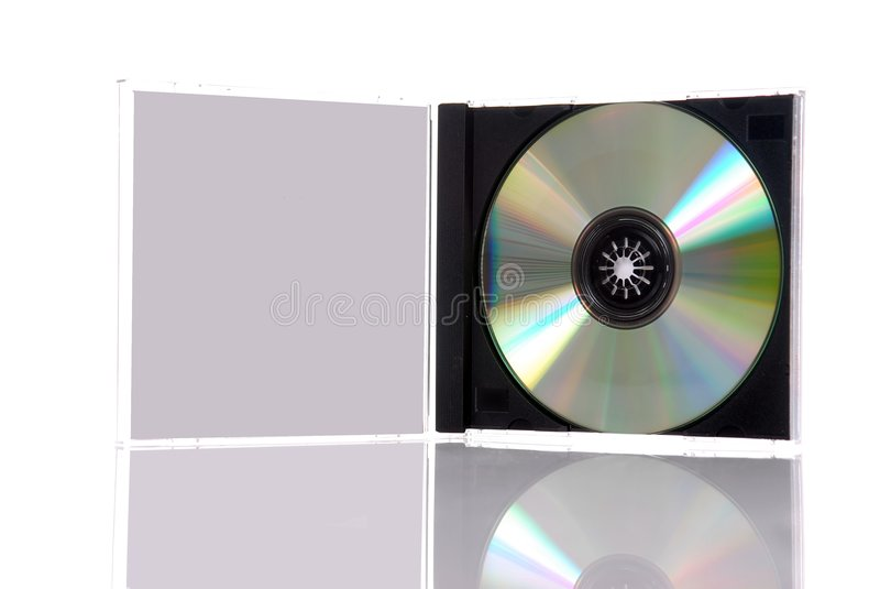 Compact disc in casella fotografie stock libere da diritti