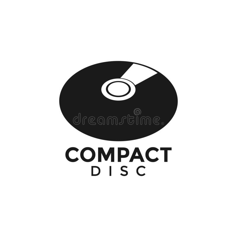 Compact disc CD graphic design template vector illustration. Compact disc CD graphic design template vector vector illustration